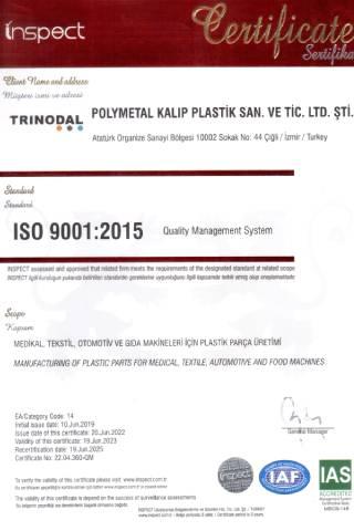 ISO 9001:2015 Belgesi