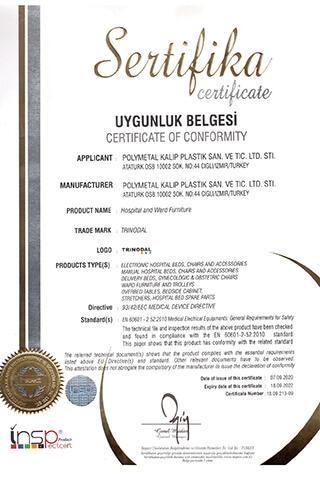 EN 60601-2-52 Certificate